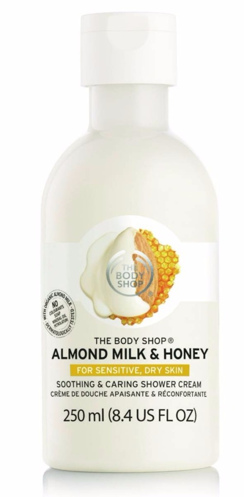 the body shop almond mil & honey