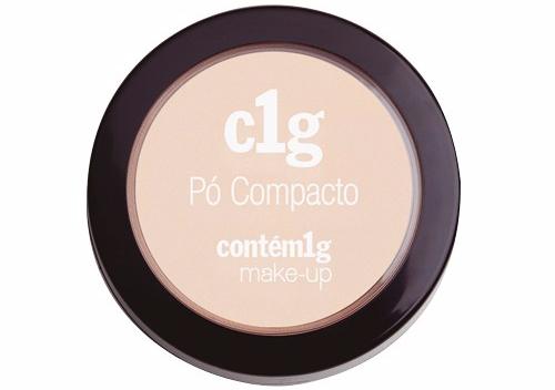 c1g pó compacto contém 1g make-up