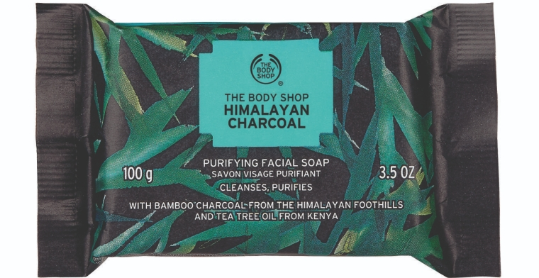 Sabonete de Limpeza Facial Carvão do Himalaia The Body Shop
