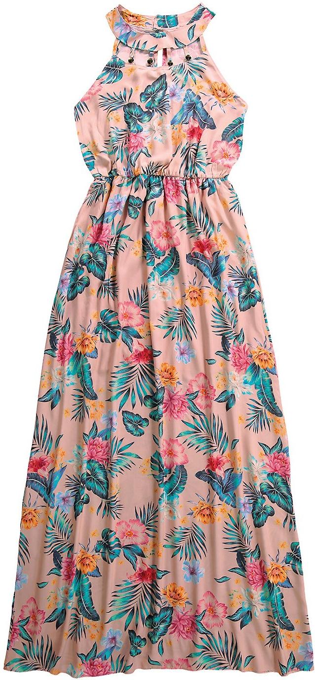 Vestido Midi com Estampa Tropical da coleção Primavera Verão 2019 da Malwee