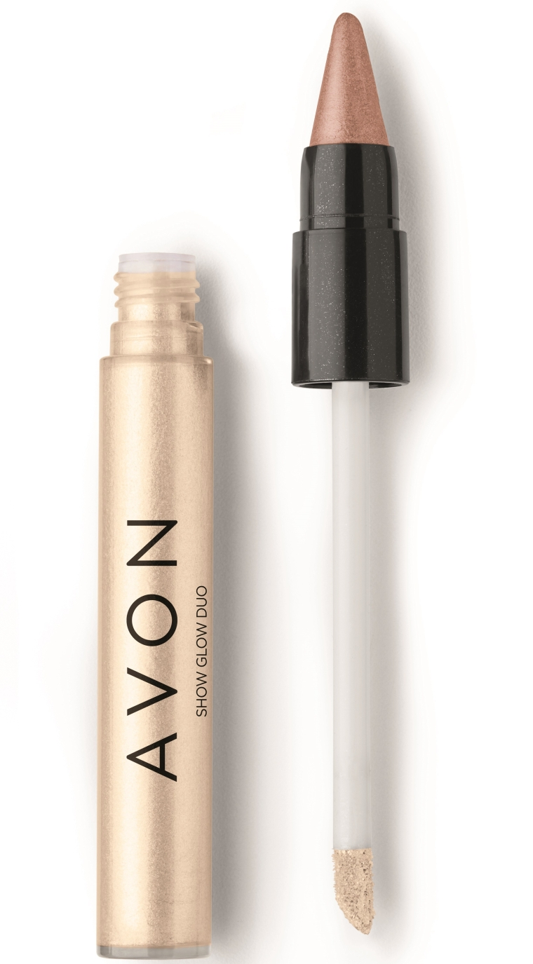 Avon Show Glow Duo Sombra Branco & Pétala Diamante