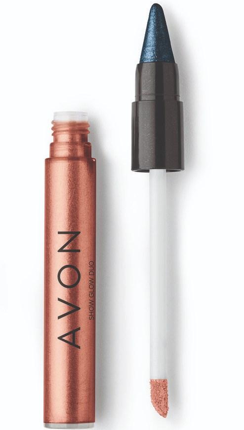 Avon Show Glow Duo Sombra Bronze & Azul Luminoso