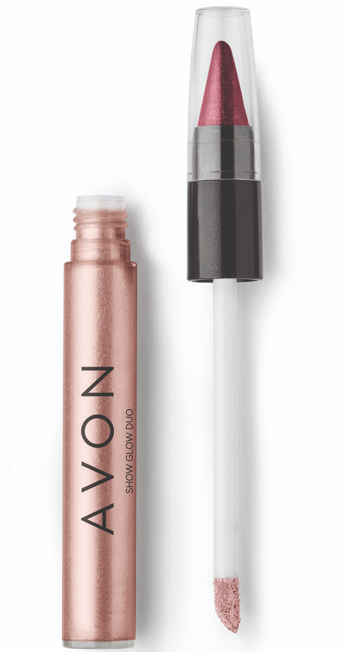 Avon Show Glow Duo Sombra Caramelo & Vinho Reluzente