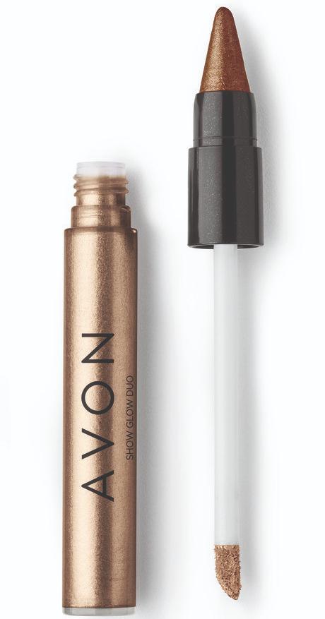 Avon Show Glow Duo Sombra Nude & Marrom Luminoso