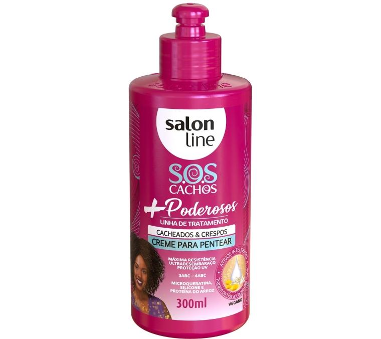 Creme-Para-Pentear-SOS-Cachos-Poderosos-Salon-Line-Cacheados-Crespos