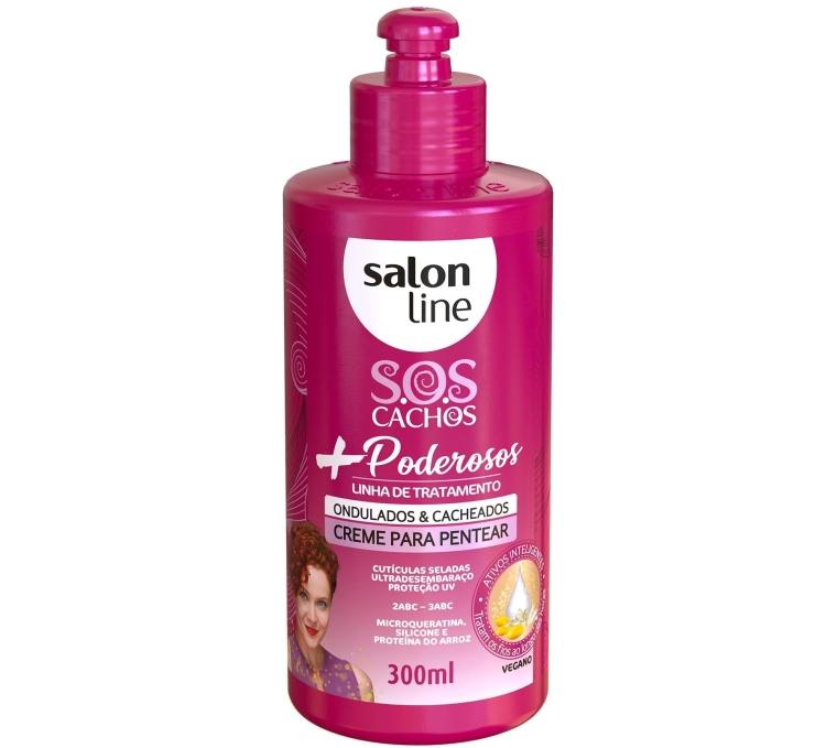 Creme-Para-Pentear-SOS-Cachos-Poderosos-Salon-Line-Ondulados-Cacheados