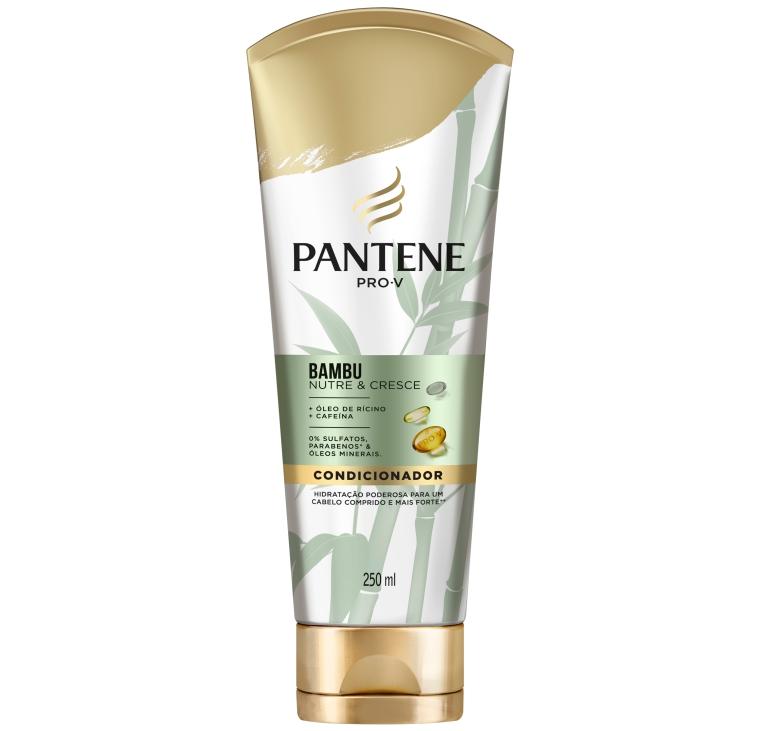 Condicionador Pantene Pro-V Bambu Nutre e Cresce óleo de rícino e cafeína