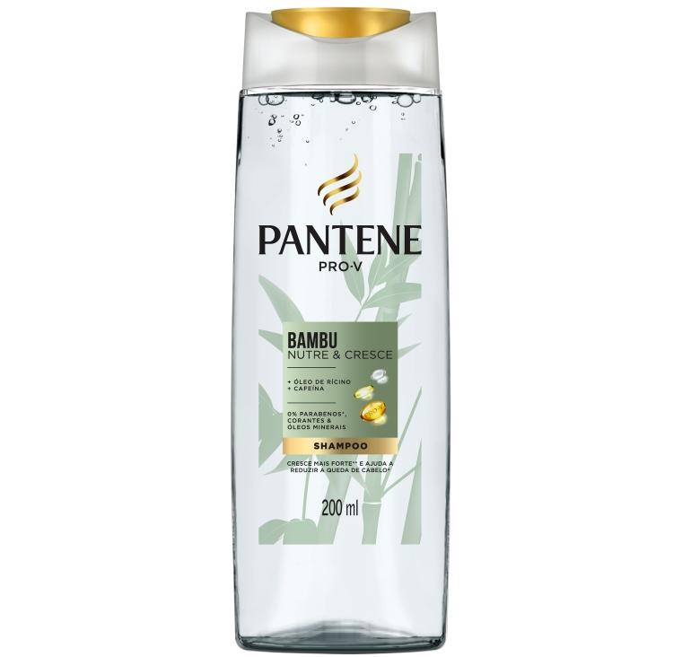 Shampoo Bambu Nutre & Cresce Pantente Pro-V óleo de ricino e cafeína