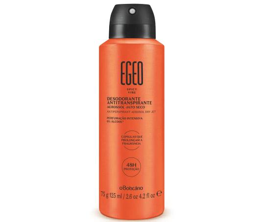 Desodorante Antitranspirante Aerossol Jato Seco Egeo Spicy Vibe O Boticário